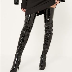 Shoes - New Patent Leather Knee Thigh boots size 8